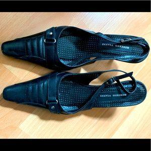 Roberto Vianni Leather Slingback Kitten Heel